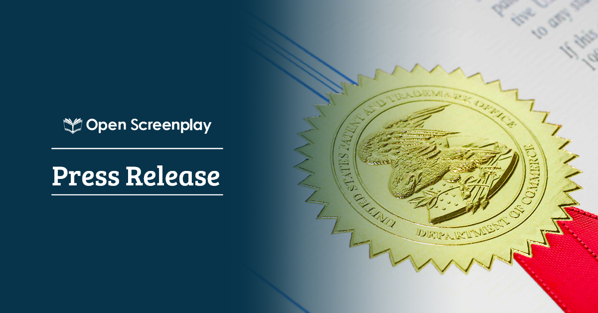 Open Screenplay awarded Patent for Innovative Collaborative Authoring System